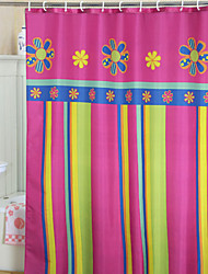 Cortina colorida Vivid Floral E Stripe Duche