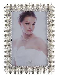 Rectángulo Marco en forma de embutido de la perla de la aleación Margen de fotos