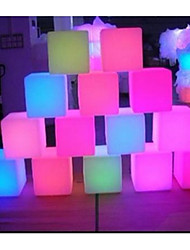 20cm PE Cube Decorative Battery Bar LED Table Lamp