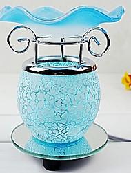 delicada lámpara de escritorio de patrón floral fragancia eléctrica