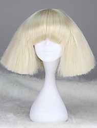 Lady Gaga Style Capless Fashion Short Straight Blonde Synthetic Wig
