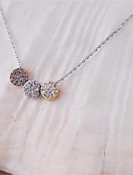 moda latão ródio ouro das mulheres banhado e colar de pingente de cristal