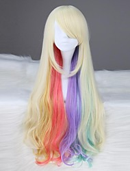 VOCALOID MAYU Long Wavy Synthetic Multi-color Anime Cosplay Wig