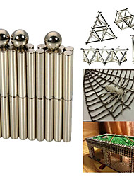63PCS Silver Magnet Sticks and Balls