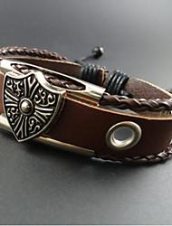 мужская старинные щит браслет обруча