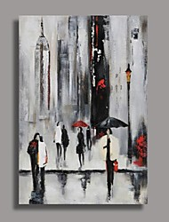 Hand-Painted AbstractModern One Panel Canvas Oil Painting For Home Decoration