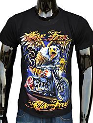 Männer Eagle 3D Printing Kurzarm-T-Shirt