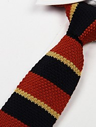 rouge noir des hommes et de trois couleurs jaune lourde cordon mode cravate en tricot décontracté