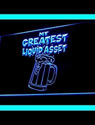 liquide publicité bar des actifs a conduit de lumière de signe