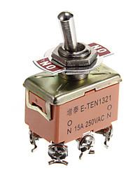 jtron 04020029 bouton interrupteur - brun (125 ~ 250V)