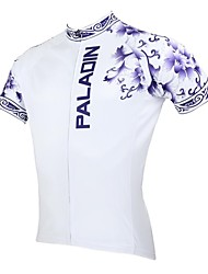 ILPALADINO Cycling Jersey Men's Short Sleeve Bike Jersey Tops Quick Dry Ultraviolet Resistant Breathable 100% Polyester Floral / Botanical