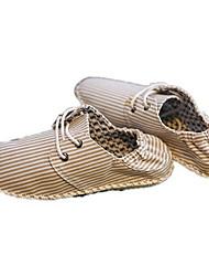 tacco piatto sneakers moda comodità degli uomini di lino con i pattini lace-up