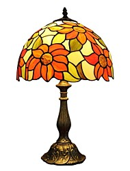 Tiffany light With Stained Glass And Zinc Alloy Base For Bedroom Or Desk Lamp D12068T