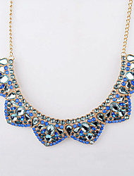 schlanke elegante bunte westlichen Diamant Imitation Kragen kurze Halskette