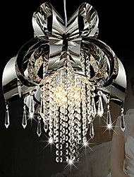 Crystal Pendant Lights , Modern/Contemporary/Traditional/Classic Bedroom/Dining Room/Hallway Metal