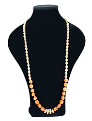 Beaded Long Stone Necklace
