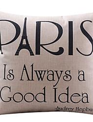 Parigi è sempre una buona copertura cuscino decorativo idea cotone / lino