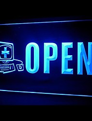 Open Computer Display Advertising LED Light Sign