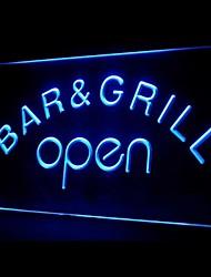 Bar Grill Abrir Promoção Verde Azul Vermelho Branco Laranja Roxo Amarelo Publicidade LED Sign