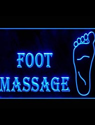 OPEN Foot Massage Advertising LED Light Sign