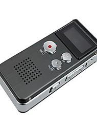 Stahl-8GB Digital Voice Recorder Diktiergerät 650Hr MP3-Player Telefon-Aufnahme-Gray