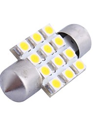 31mm 3W 150LM 3000K 12x3528SMD Warm White LED for Car Reading/License Plate/Door Lamp (DC12V,1PCS)