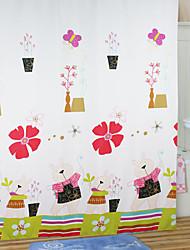 Cartoon Cute Rabbit Shower Curtain