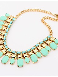 Lydia Women'S Bohemian Style Candy Color Clavicular Necklace (Green)