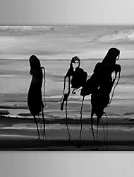 IARTS®Hand Painted Oil Painting People  Abstract Beach Girls with Stretched Frame