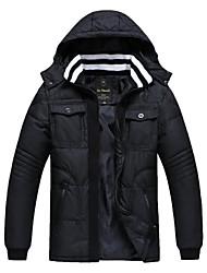 cuir PU pur manteau de coton fin de skymoto®men