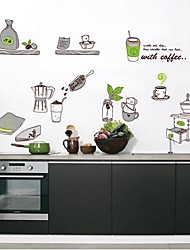 Createforlife® Cartoon Coffee Making Kids Nursery Room Wall Sticker Wall Art Decals