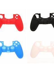 4pcs Schutzmaßnahmen Silikon Skin für PS4-Controller