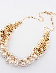 Elegant Pearl Statement Necklace