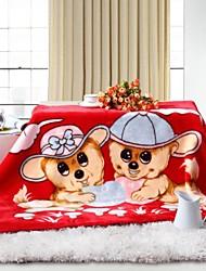 edredón shuian® patrón de dibujos animados suave mantenerse caliente niños engrosamiento Manta Raschel