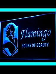 Flamigo House Advertising LED Light Sign