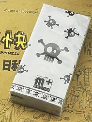 "Skull Bones Creative Style Tissue Toilet Napkin Paper,100% virgin pulp 4""x2.2""1"""
