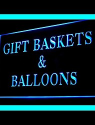 Gift Baskets Balloons Advertising LED Light Sign