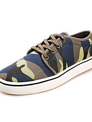 Zapatos de Hombre Exterior/Casual Tela Sneakers a la Moda Azul/Negro