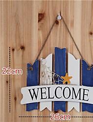 Style méditerranéen bois véritable Welcome Card