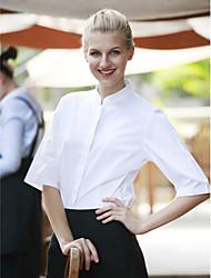 ресторанах униформа половиной рукав официант блузки с застежкой