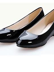 salto cunha dedo do pé redondo das mulheres bombas sapatos (mais cores)