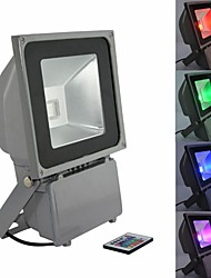 80W LED RGB Waterproof Aluminium Flood Light with IR Remote Controller AC85-265V