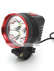 UniqueFire HD-017 New Design 3 Modes 4xCree XML T6 Bike Led Headlight(4000LM.Battery Pack.Black)