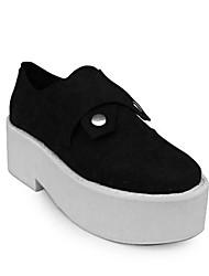 Handmade Black Suede 6 centímetros Wedge Gothic Lolita Shoes