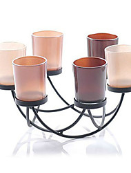 "5.6 ""atistic Modern Style Iron Candle Holder"
