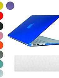 Estuche rígido traslúcido diseño PC con la cubierta del teclado de la piel para MacBook Air (colores surtidos)