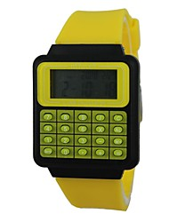 Unisex The Calculator Silicone Band Digital Wrist Watch (Assorted Colors)