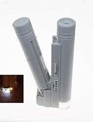led portátil iluminado 40x microscópio binocular (2 x AA)