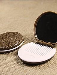 ronde chocolade make-up spiegel