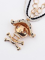 Women'S Western Exaggerated Voodoo Doll Diamond Fashion Sweater Necklace